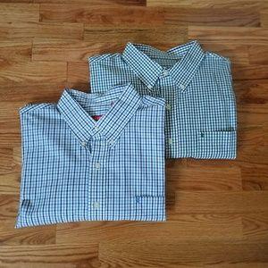 NWOT Izod plaid long sleeve shirt in XL